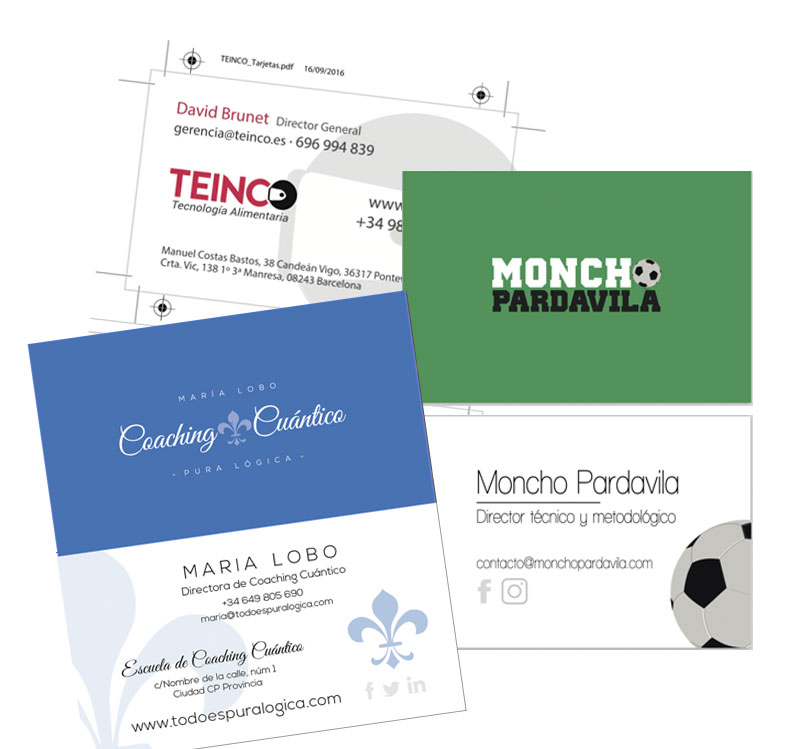 <span>Servicios</span>Diseño de tarjetas